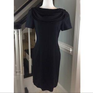 Black Dress - Drape Neck- LIZ CLAIBORNE - Size 4